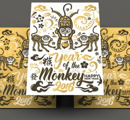 Chinese new year 2016 year of the Monkey 猴年2016