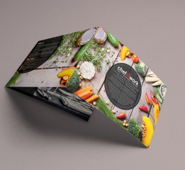 Chefatwork tri-fold brochure lands